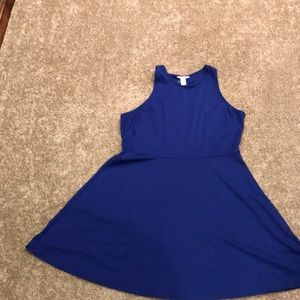 Royal blue racer back dress